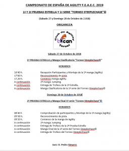 FEAEC 1ª Y 2ª PRUEBA ESTRELLA TUCAN @ CLUB DE AGILITY TUCAN  | Teruel | Aragón | España