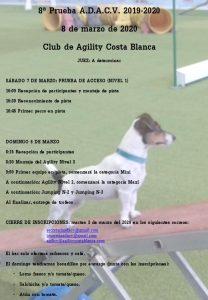 ADACV 7 MARZO PRUEBA DE ACCESO COSTA BLANCA @ AGILITY COSTA BLANCA | Elche | Valencian Community | España