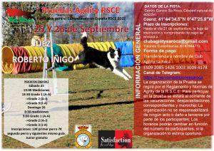 Prueba RSCE Sa Roca 25-26 septiembre y test de carácter @ Agility Sa Roca | Peñaflor de Gállego | Aragón | España